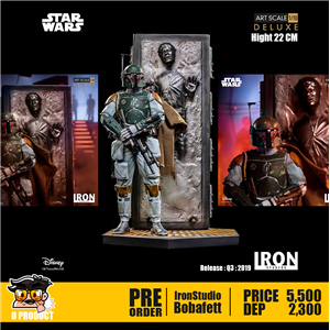 Boba Fett & Han Solo in Carbonite BDS 1/10Scale